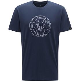 Haglöfs Camp Camiseta Hombre, tarn blue logo